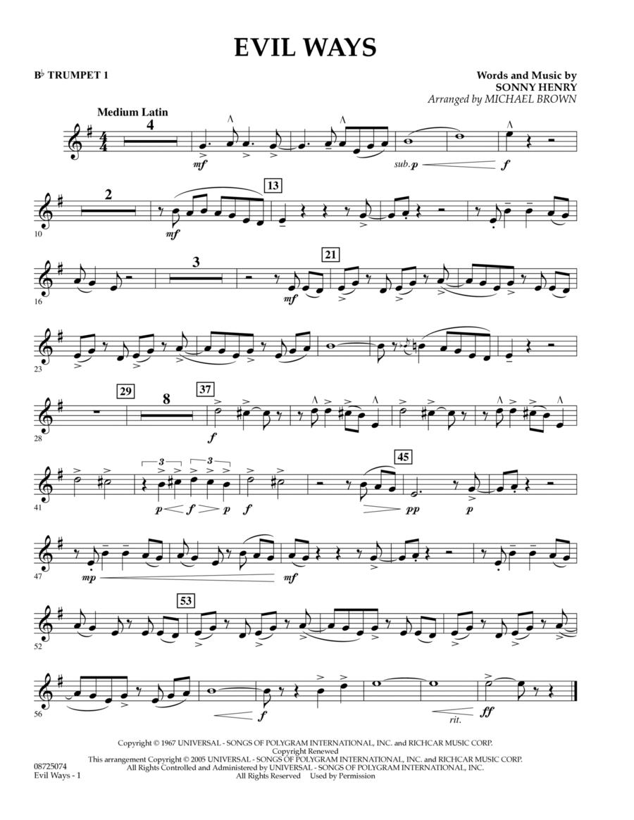Evil Ways - Bb Trumpet 1