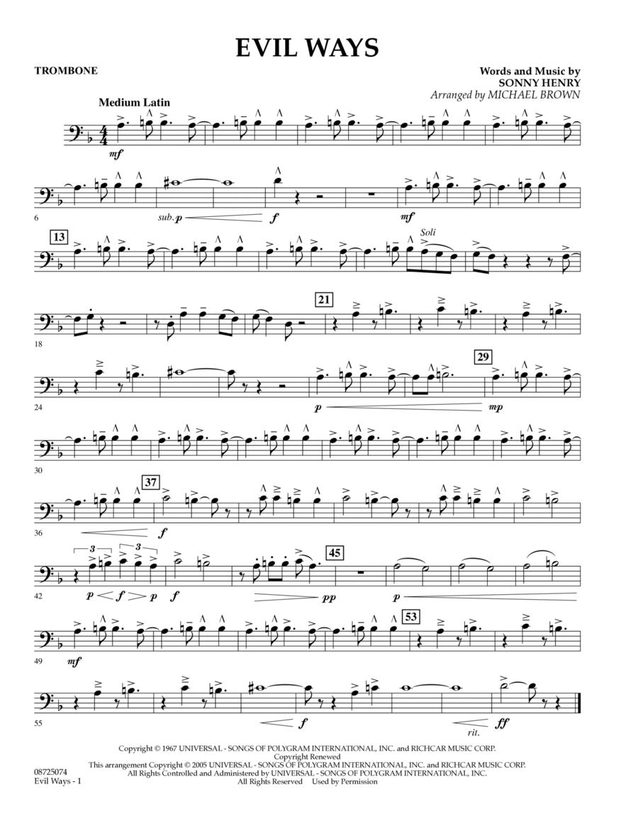 Evil Ways - Trombone