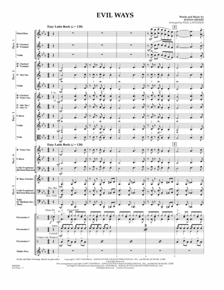 Evil Ways (Flex-Band) - Conductor Score (Full Score)