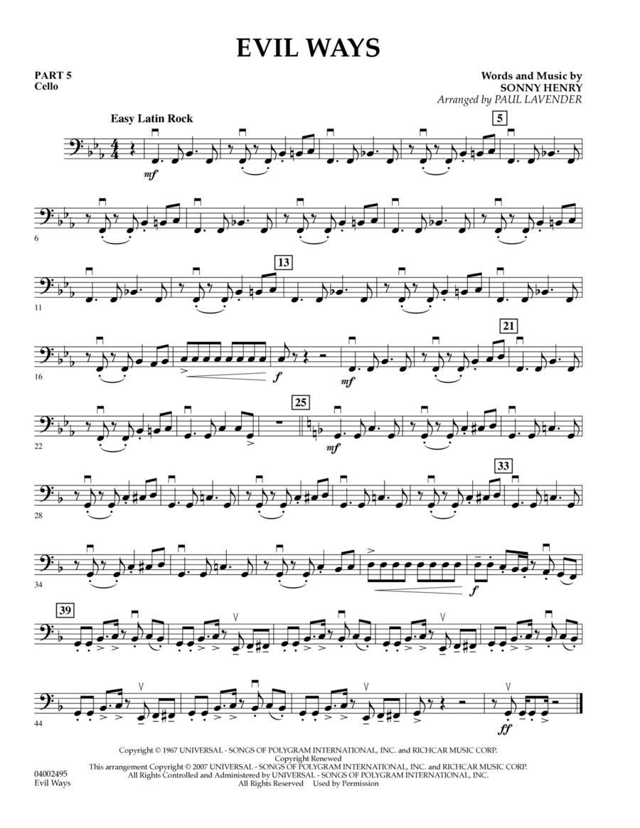 Evil Ways (Flex-Band) - Pt.5 - Cello