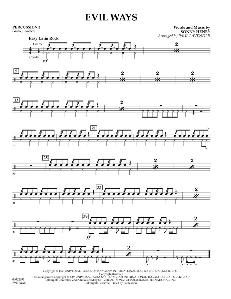 Evil Ways (Flex-Band) - Percussion 2