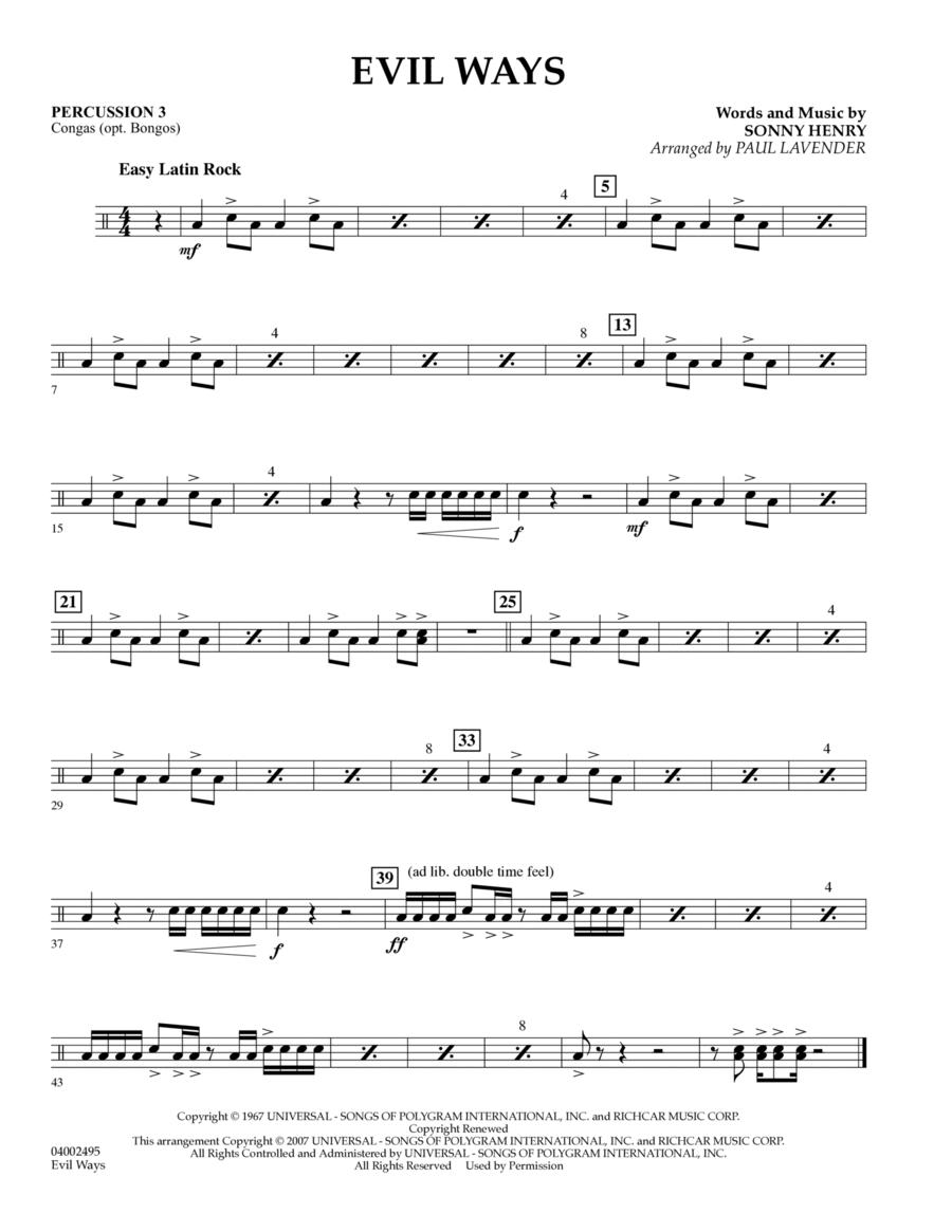 Evil Ways (Flex-Band) - Percussion 3