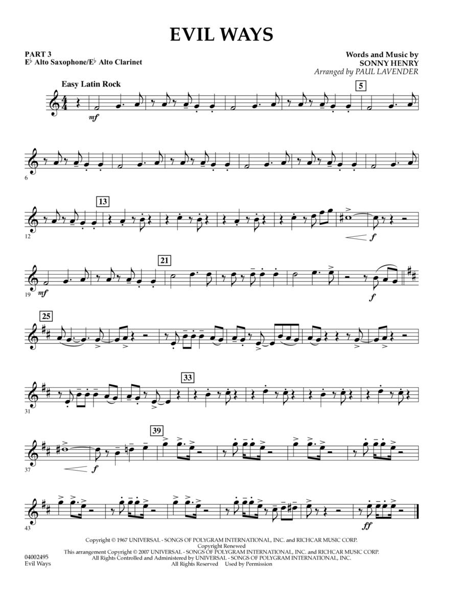 Evil Ways (Flex-Band) - Pt.3 - Eb Alto Sax/Alto Clar.