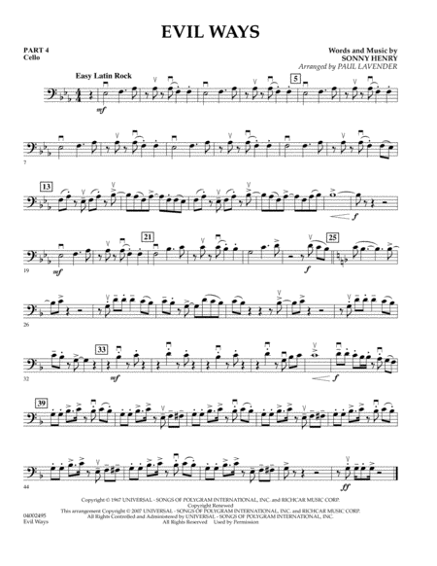 Evil Ways (Flex-Band) - Pt.4 - Cello
