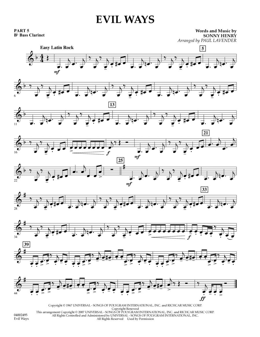 Evil Ways (Flex-Band) - Pt.5 - Bb Bass Clarinet
