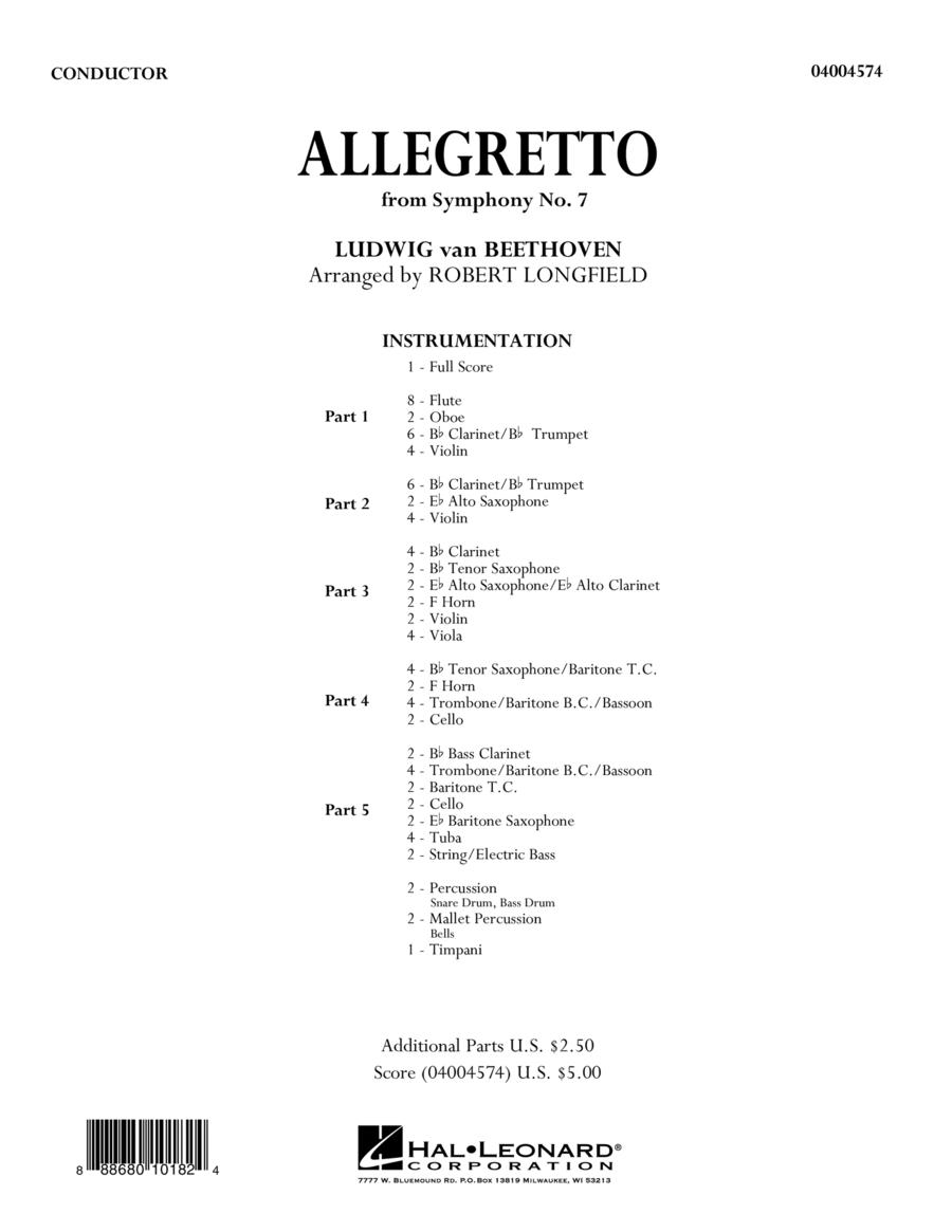 Allegretto (from Symphony No. 7) - Conductor Score (Full Score)