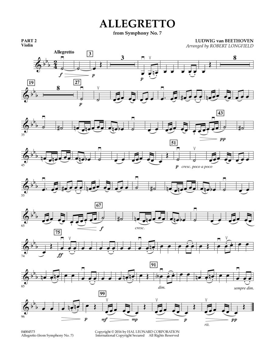 Allegretto (from Symphony No. 7) - Pt.2 - Violin
