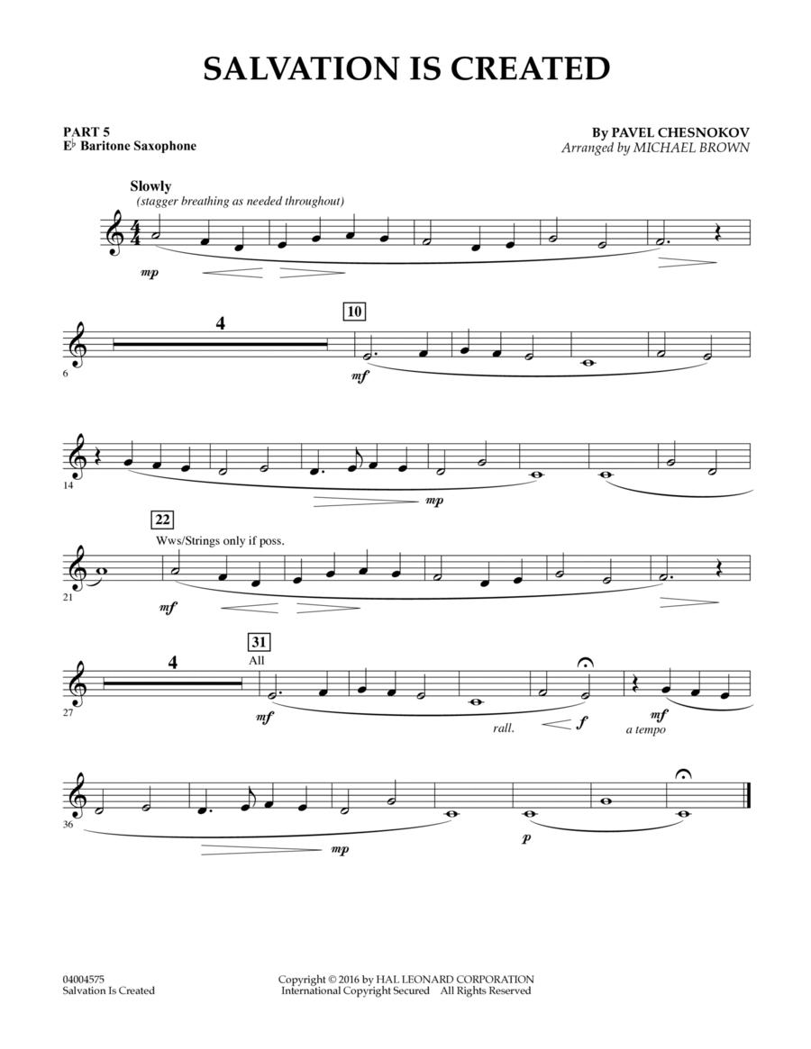 Salvation Is Created - Pt.5 - Eb Baritone Saxophone