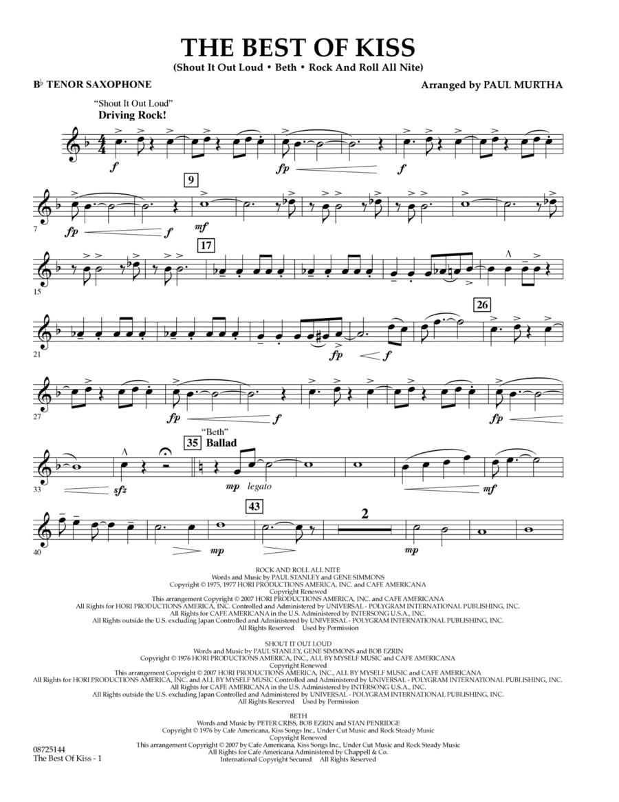 The Best of Kiss - Bb Tenor Saxophone
