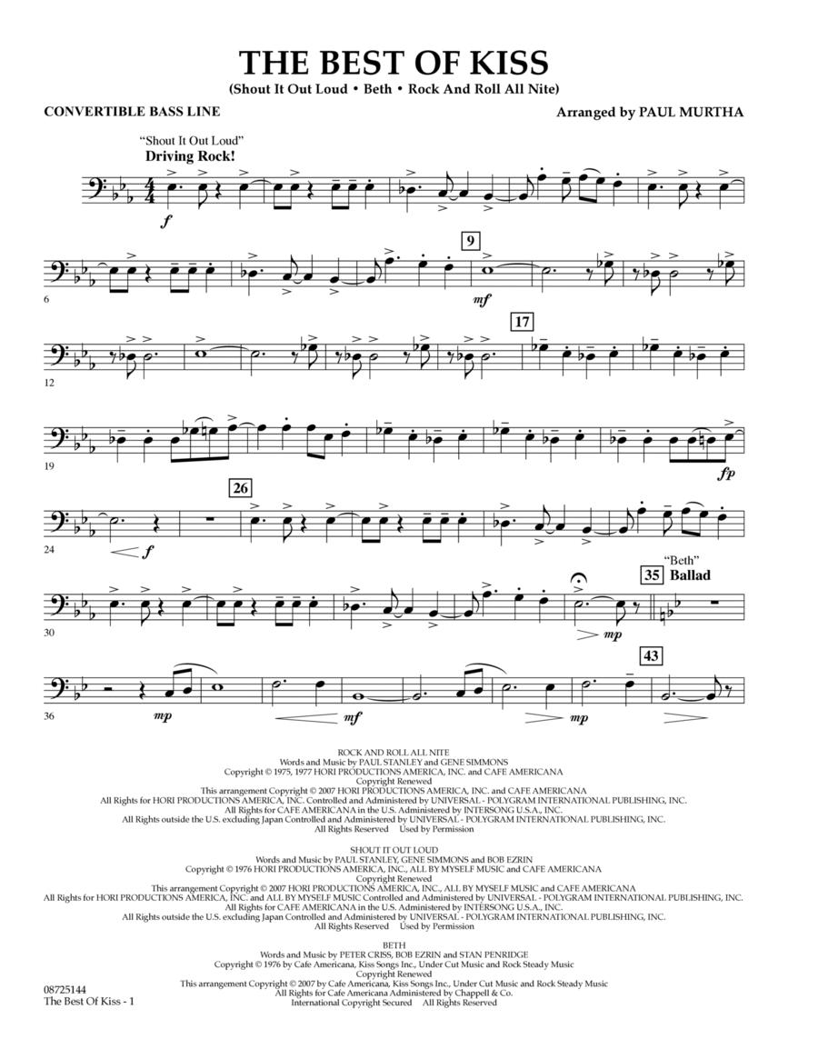 The Best of Kiss - Convertible Bass Line