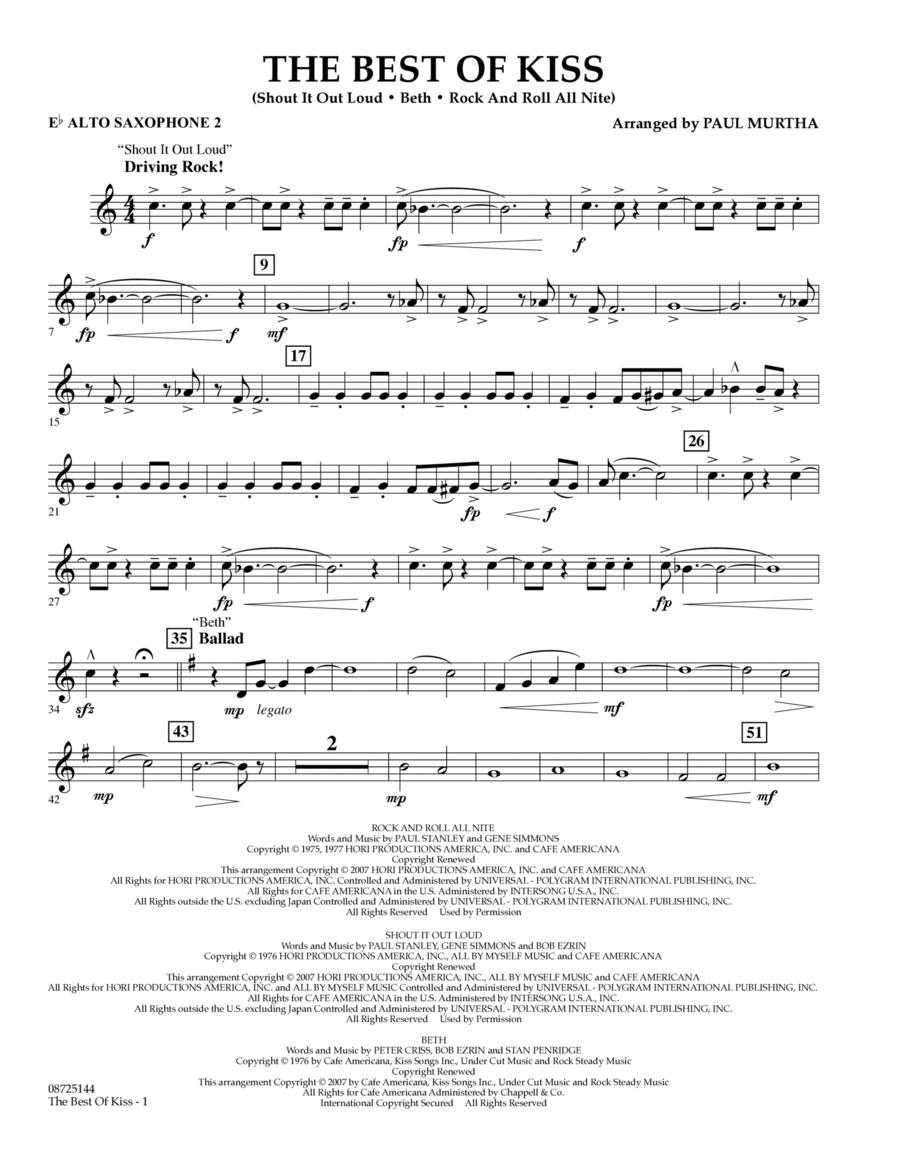 The Best of Kiss - Eb Alto Saxophone 2