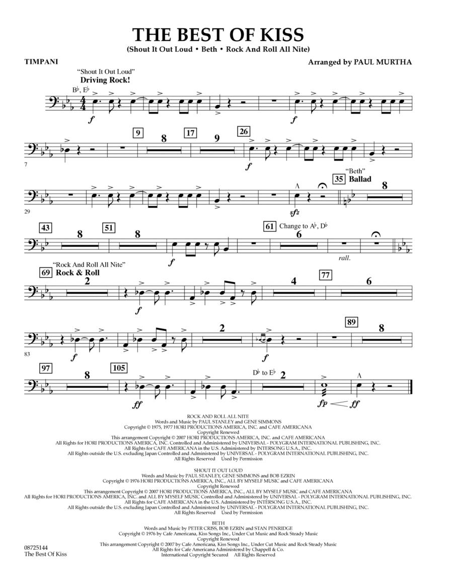 The Best of Kiss - Timpani