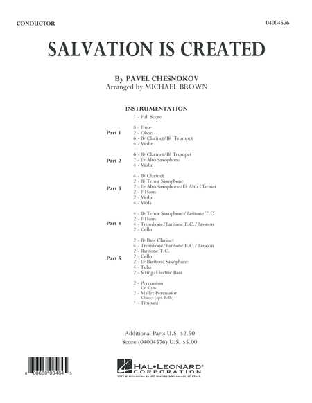 Salvation Is Created - Conductor Score (Full Score)