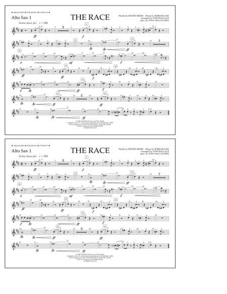 The Race - Alto Sax 1
