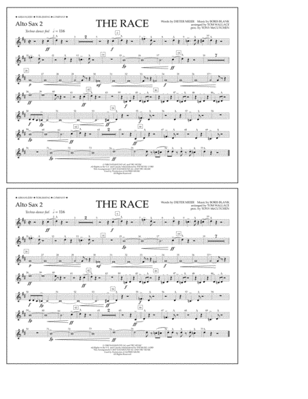 The Race - Alto Sax 2