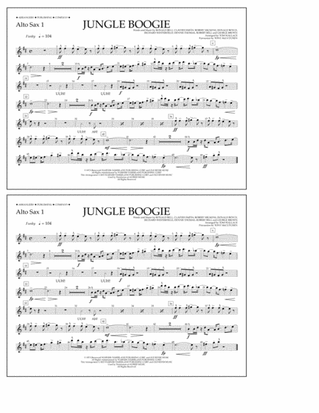 Jungle Boogie - Alto Sax 1