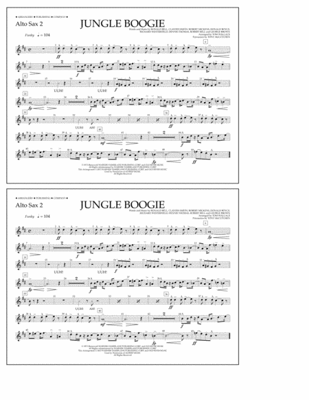 Jungle Boogie - Alto Sax 2