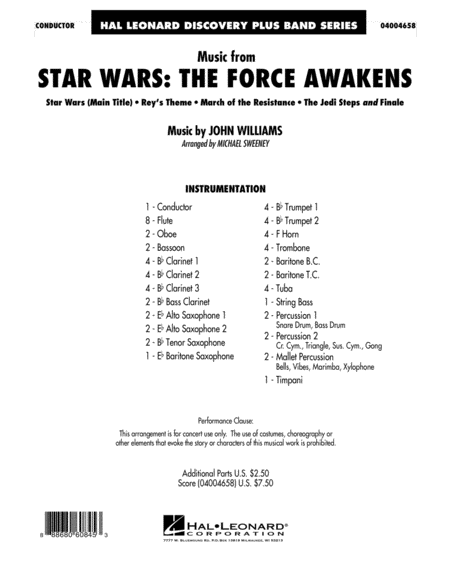 Music from Star Wars: The Force Awakens - Conductor Score (Full Score)
