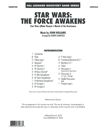 Star Wars: The Force Awakens - Conductor Score (Full Score)
