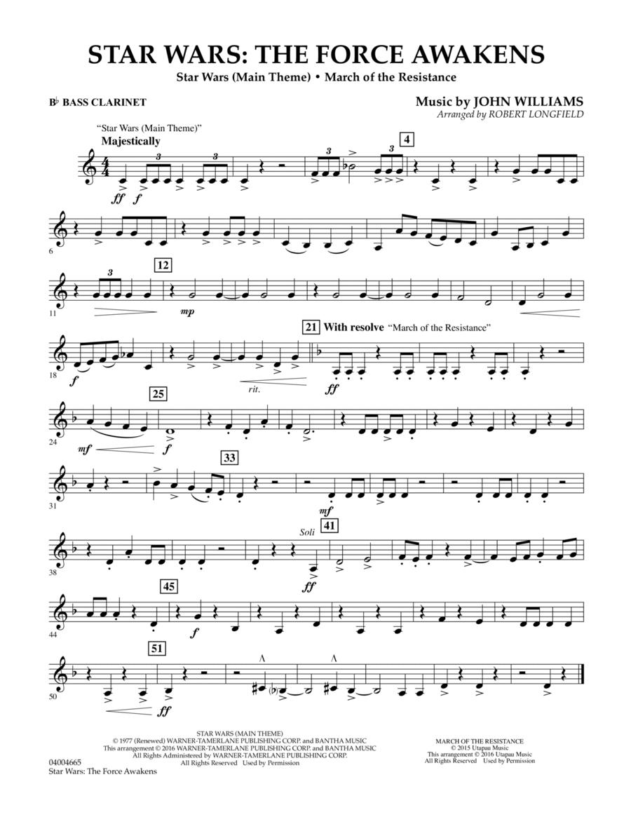 Star Wars: The Force Awakens - Bb Bass Clarinet