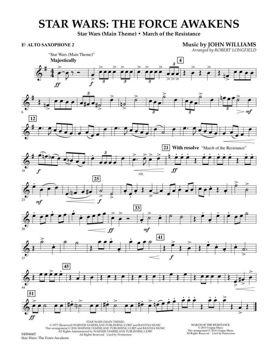Star Wars: The Force Awakens - Eb Alto Saxophone 2