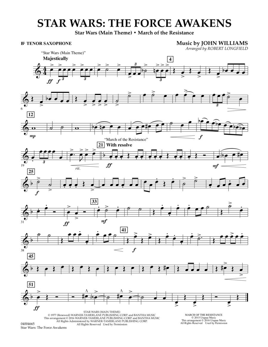 Star Wars: The Force Awakens - Bb Tenor Saxophone