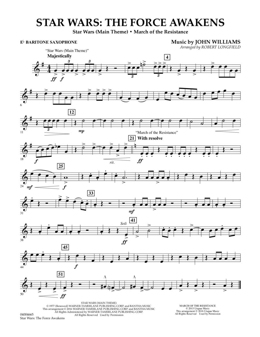 Star Wars: The Force Awakens - Eb Baritone Saxophone