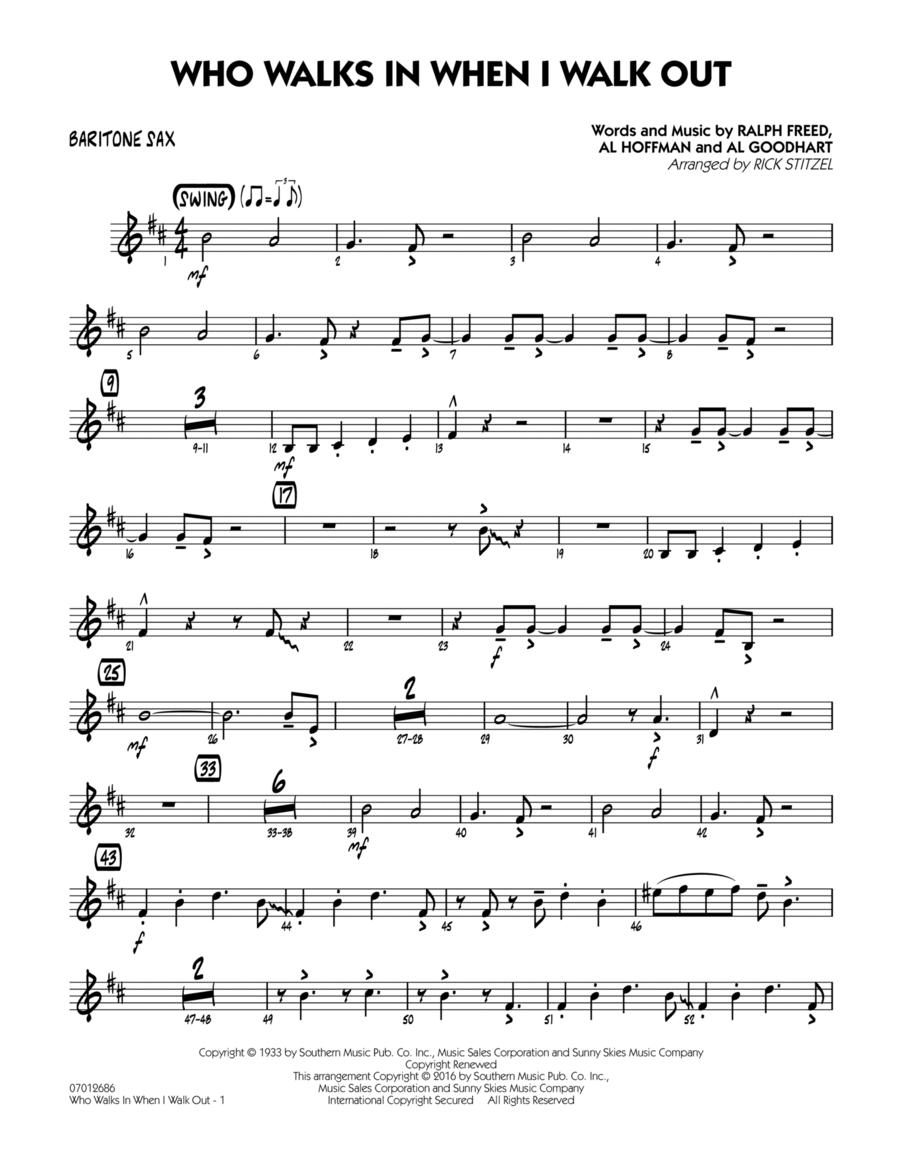 Who Walks In When I Walk Out? (Key: D minor) - Baritone Sax