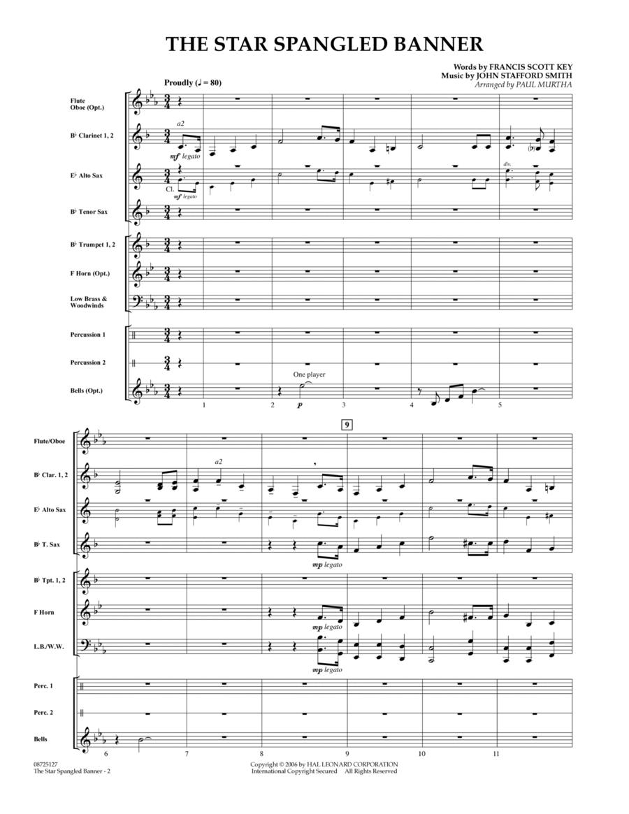 The Star Spangled Banner - Full Score