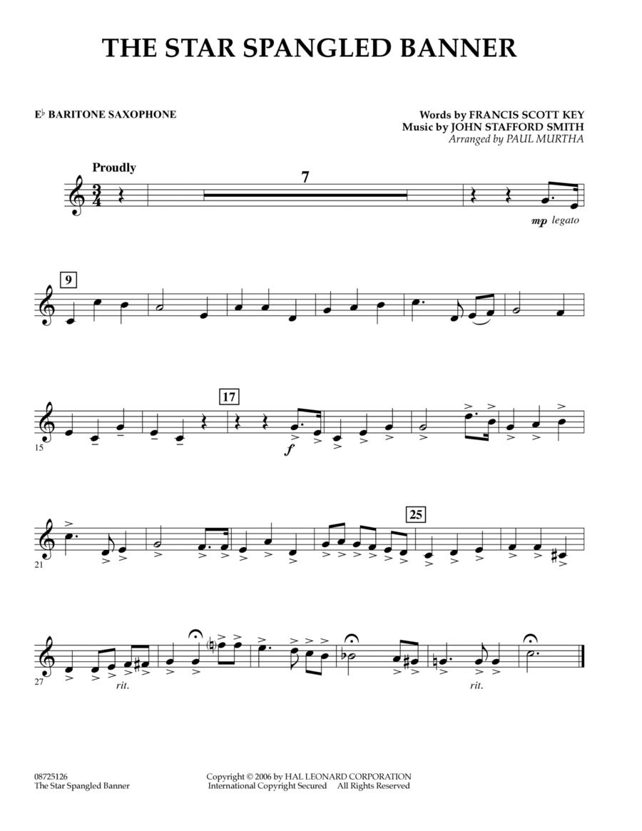 The Star Spangled Banner - Eb Baritone Saxophone
