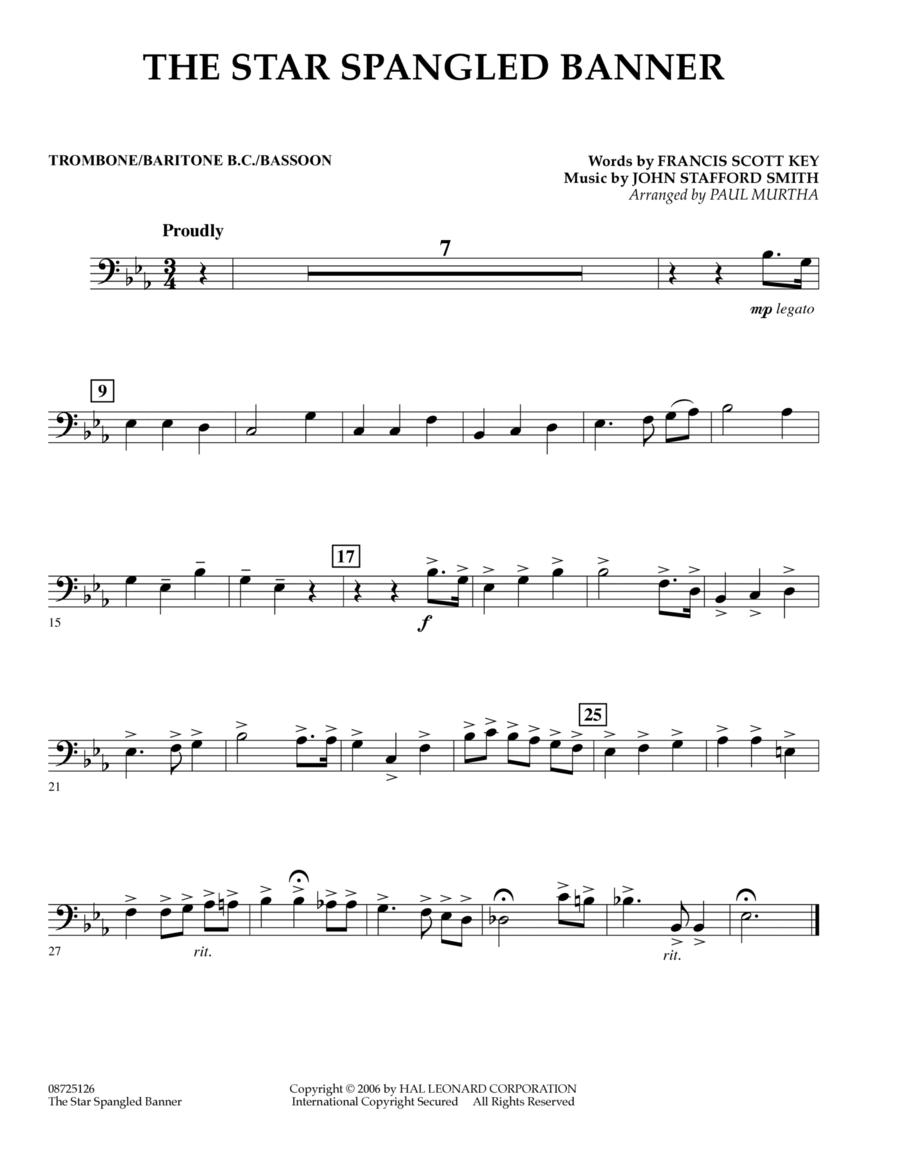 The Star Spangled Banner - Trombone/Baritone B.C./Bassoon