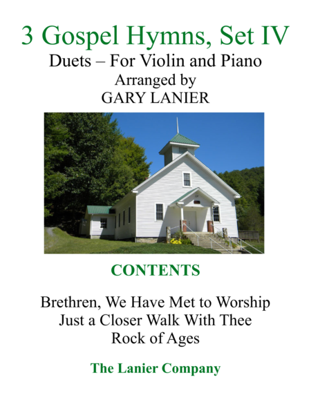 Gary Lanier: 3 GOSPEL HYMNS, Set IV (Duets for Violin & Piano)