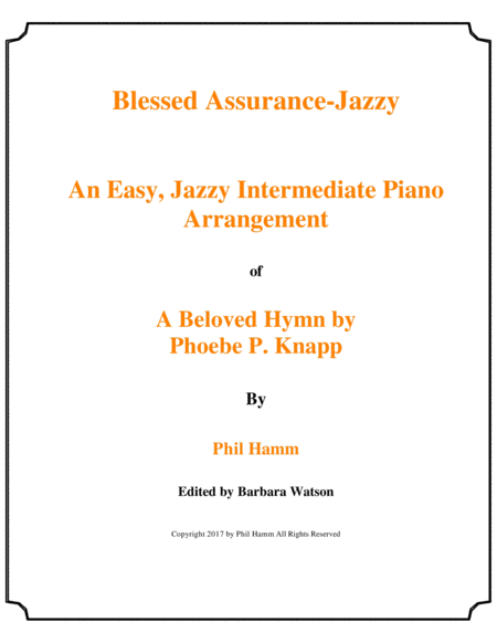 Blessed Assurance-Jazzy