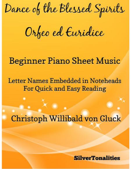 Dance of the Blessed Spirits Beginner Piano Sheet Music