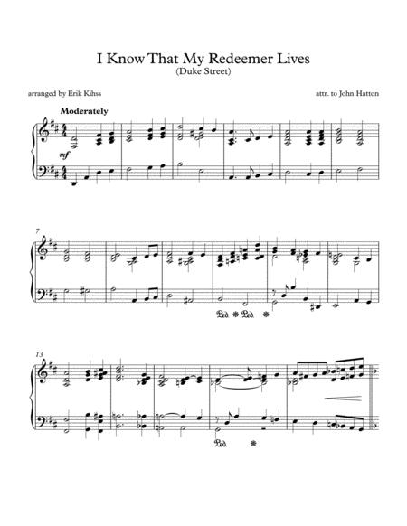 I Know That My Redeemer Lives - (Duke Street) - piano arrangement by Erik Kihss