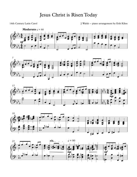 Jesus Christ is Risen  Today - (Easter Hymn) - piano arrangement by Erik Kihss