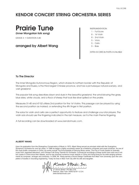 Prairie Tune (Inner Mongolian folk song) - Full Score