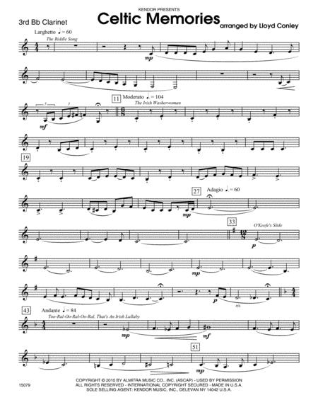 Celtic Memories - Clarinet 3
