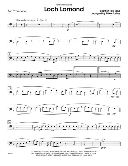 Loch Lomond - Trombone 2