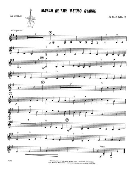 March Of The Metro Gnome - Violin 1