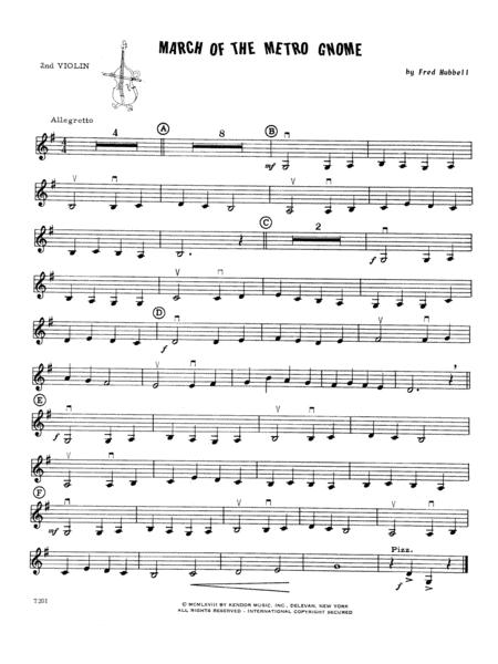 March Of The Metro Gnome - Violin 2