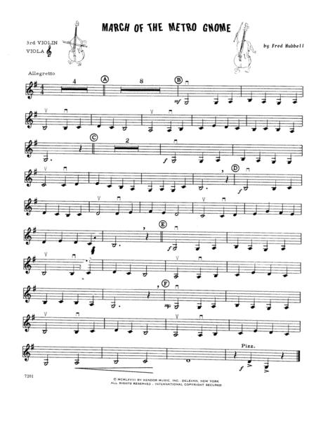 March Of The Metro Gnome - Violin 3