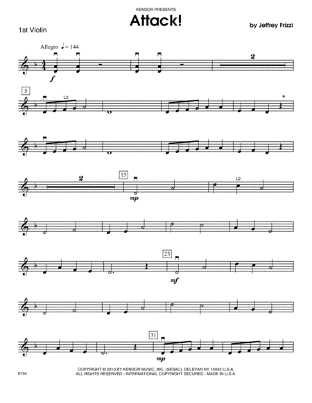 Attack! - Violin 1