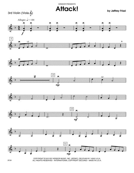 Attack! - Violin 3
