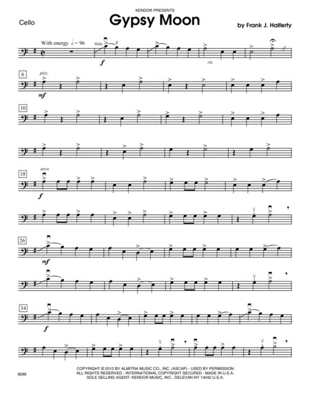 Gypsy Moon - Cello