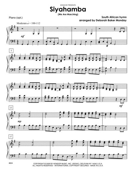 Siyahamba (We Are Marching) - Piano