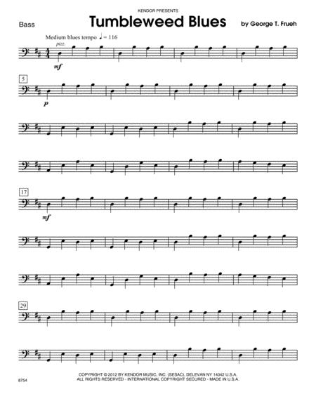 Tumbleweed Blues - Bass
