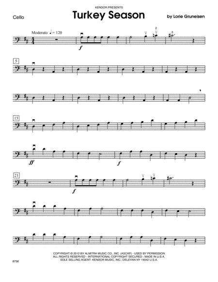 Turkey Season - Cello