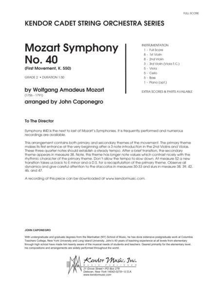 Mozart Symphony No. 40 (First Movement, K. 550) - Full Score