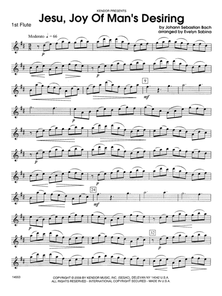 Jesu, Joy of Man's Desiring - Flute 1
